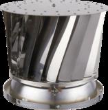 Twister RVS Groot-Roterende Trekkap-Voor Ø 120 tot 300 mm-Waterdichte bovenplaat_
