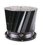 Twister Zwart Groot-Roterende trekkap-Voor Ø 120 tot 300 mm-Waterdichte bovenplaat_
