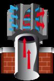 Optimus Black Junior, vaste trekkap,voor Ø 80 tot Ø 235 mm, met veegluik_