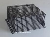 Vonkenvanger  RVS Zwart gecoat 33.5 X 33.5 X 15 cm hoog