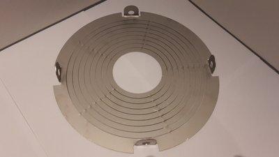 Adapter afdichting tussen rookkanaal en Twister Kap Groot