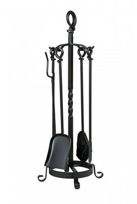 haardstel zwart kopen, staand, 4 delig, 82 cm
