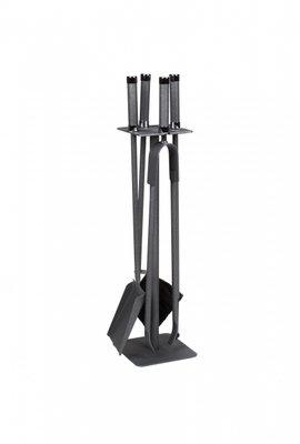 Haardstel, antraciet,  staand 4 delig, 62 cm hoog