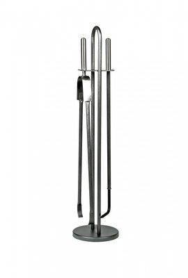Haardstel goedkoopl antraciet staand 2 delig, 72 cm hoog