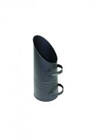 Houtbak kolenkit 20 liter, zwart, rond 22 cm 59 cm hoog
