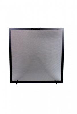 Haardscherm Zwart H 75 cm x B 75 cm