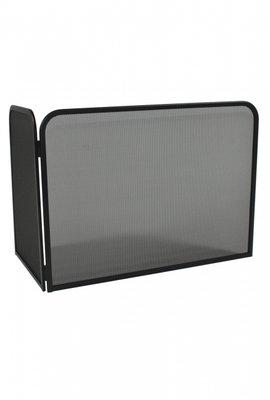 Haardscherm Zwart H 48 x B 66 cm  linkerhoek 35 cm