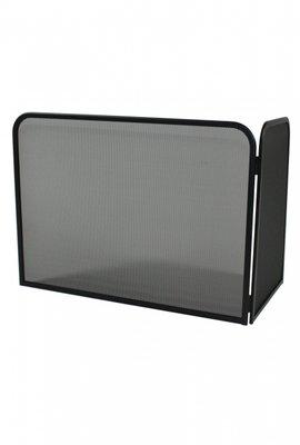 Haardscherm Zwart H 48 cm x B 76 cm rechterhoek 46 cm