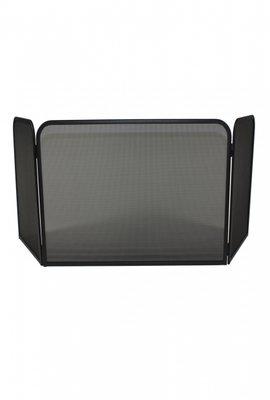Haardscherm Zwart H 48 cm x B 72 cm panorama Diepte 35 cm