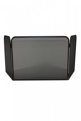 Haardscherm Zwart H 48 cm x B 87 cm scharnierende zijdelen  35 cm