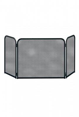 Haardscherm Zwart H 48 cm x B 54 cm scharnierende zijdelen 26 cm
