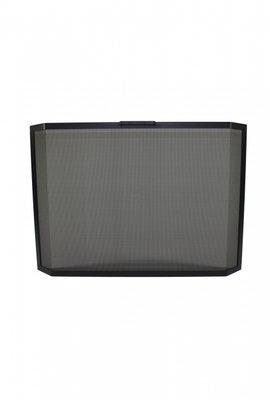 Haardscherm Zwart H 75 cm x B 95 cm panorama