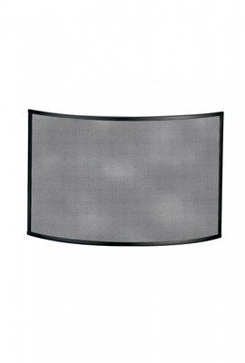 Haardscherm Zwart H 48 x B 72 cm  gebogen