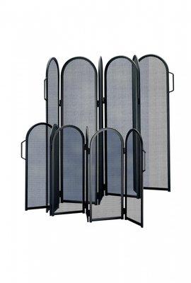 Haardscherm Zwart H 57 x B 6 x 25 cm  inklapbaar 6 delig