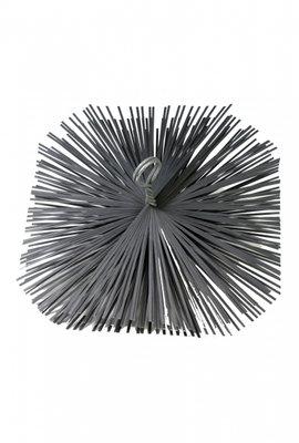 Schoorsteen staalborstel vierkant 300x300