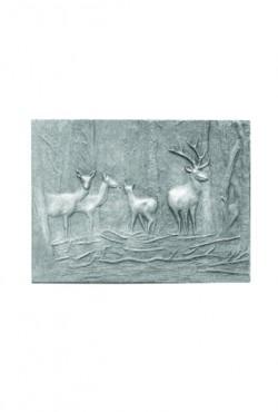 Haardplaat, Les bickes PH, 67 B x 50 cm H, 39 KG.