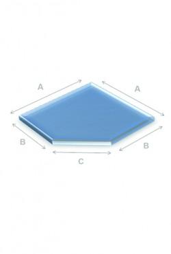Kachel Vloerplaat Glas schuine kant 80 x 80 cm