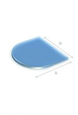 Kachel Vloerplaat Glas halfrond 80 x 80 cm