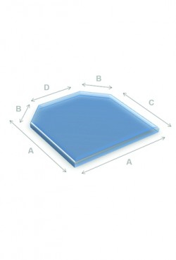 Kachel Vloerplaat Glas zeskant 100 x 100 cm