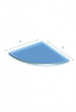 Kachel Vloerplaat Glas kwartrond 100 x 100 cm