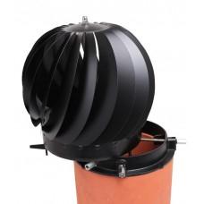 Spinner plus RVS Zwart, Roterende trekkap, tot Ø 250 mm, met veegluik