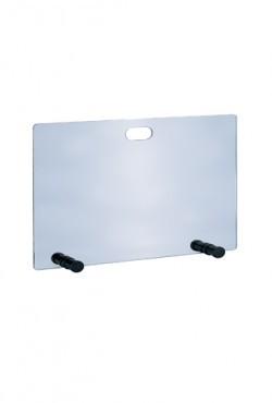 Vonkenscherm Glas  H 50 X B 65 cm met zwart voetje
