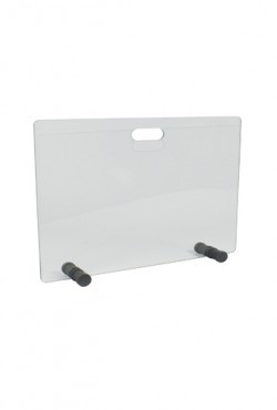 Vonkenscherm Glas  H 50 X B 65 cm antraciete voetje