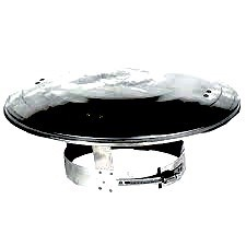 Regenkap RVS voor 110 mm rookkanaal