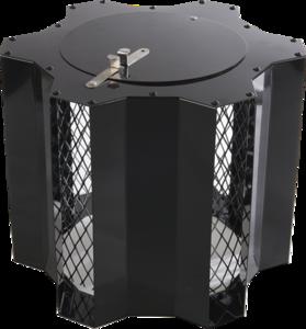Optimus Black Junior, vaste trekkap,voor Ø 80 tot Ø 235 mm, met veegluik