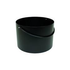 Houtbak emmer zwart, rond 40 cm, 27 cm hoog