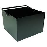 Houtbak buiten, zwart,  voor buiten en binnen, 40 x 40 x 27 cm hoog