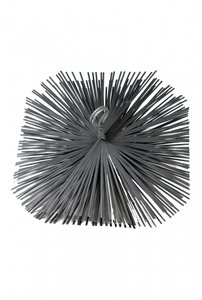 Schoorsteen staalborstel vierkant 250x250