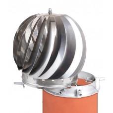 Spinner plus RVS blank, Roterende trekkap, tot Ø 250 mm, met veegluik